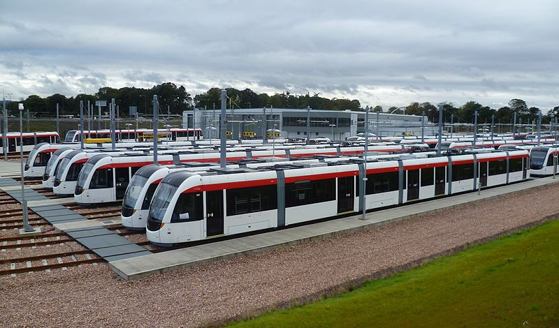 Trams waiting patiently at Gogar (Kim Traynor)