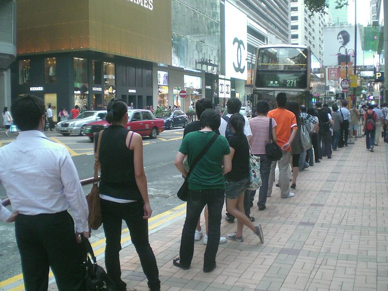 Correct bus queue (albeit in Hong Kong)