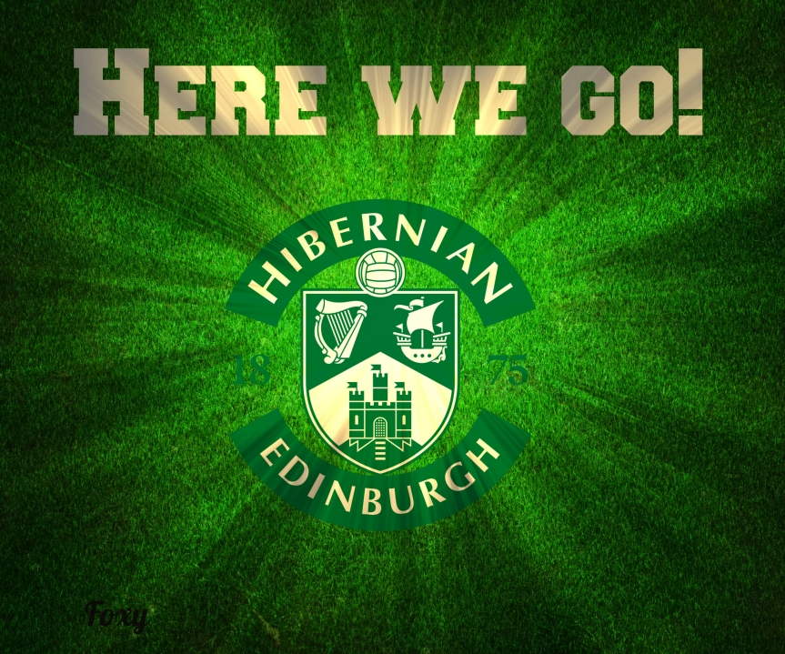 Hibs in the play offs. Here we go, here we go, here we go!